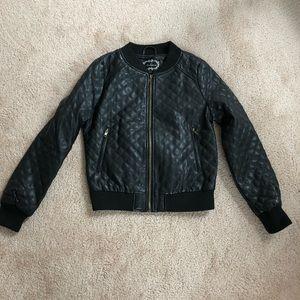 Ambiance Jackets & Coats - Ambiance Black Leather Jacket S